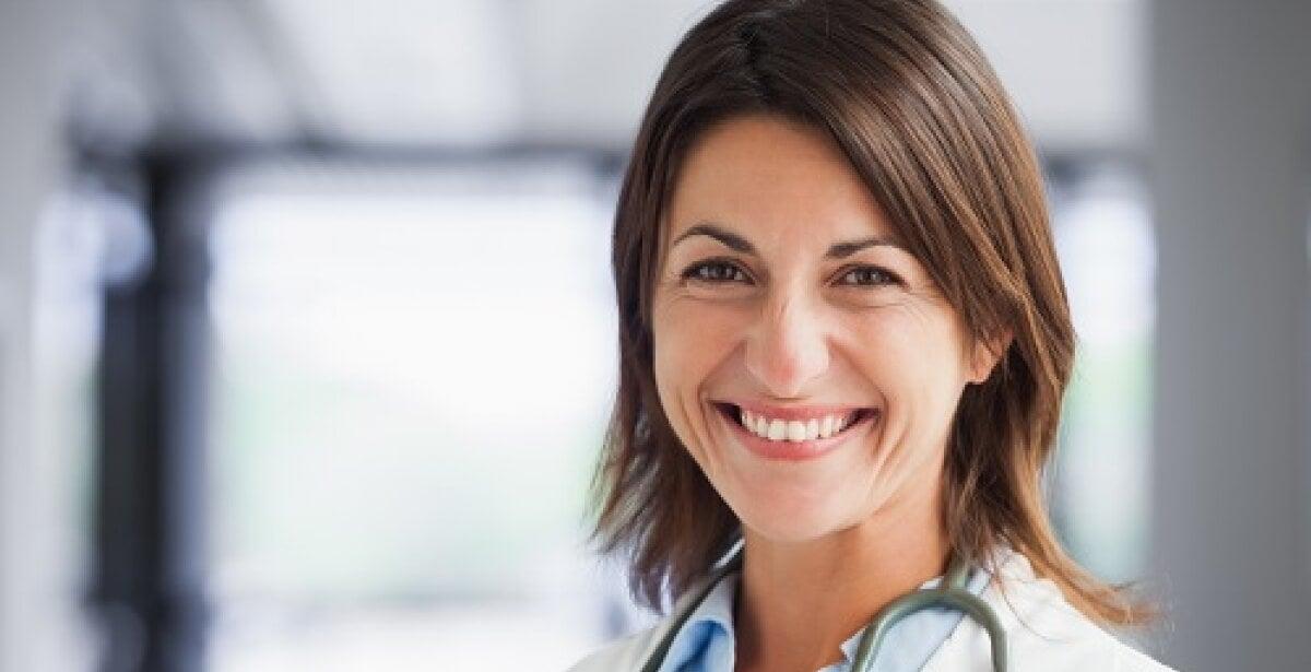 Smiling nurse with stethoscope