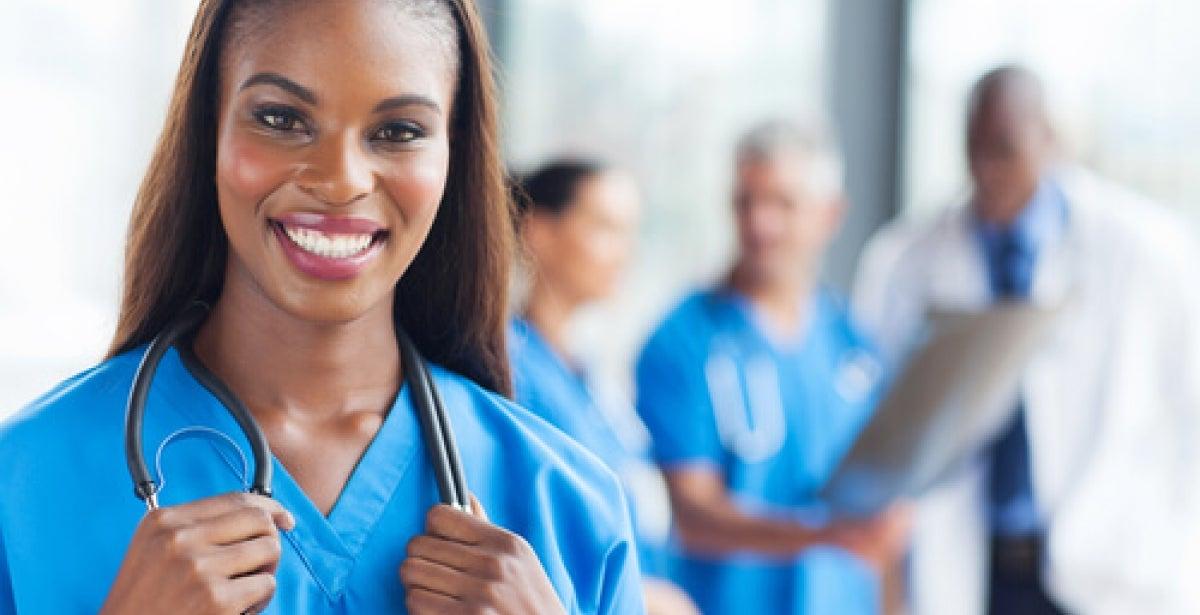 Nurse using critical thinking at work